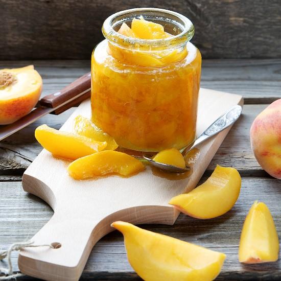 Rezept Orientalisches Kompott mit gelben Früchten im Weck Glas